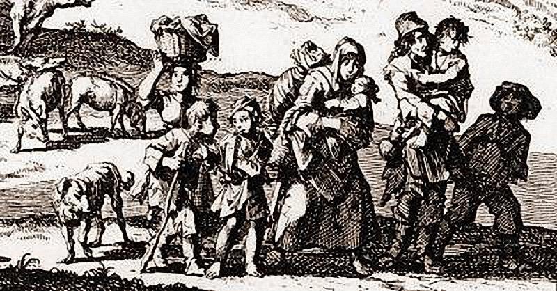 Hugenotten fliehen aus Frankreich